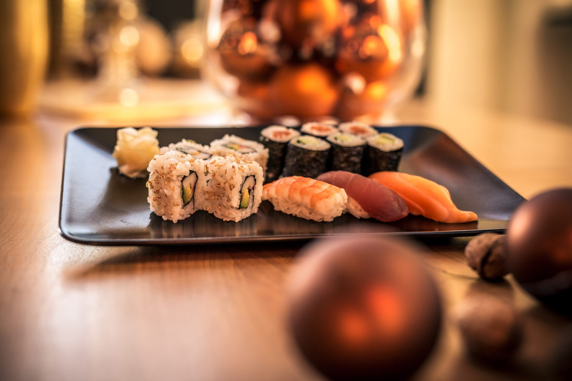 Weihnachts-Sushi