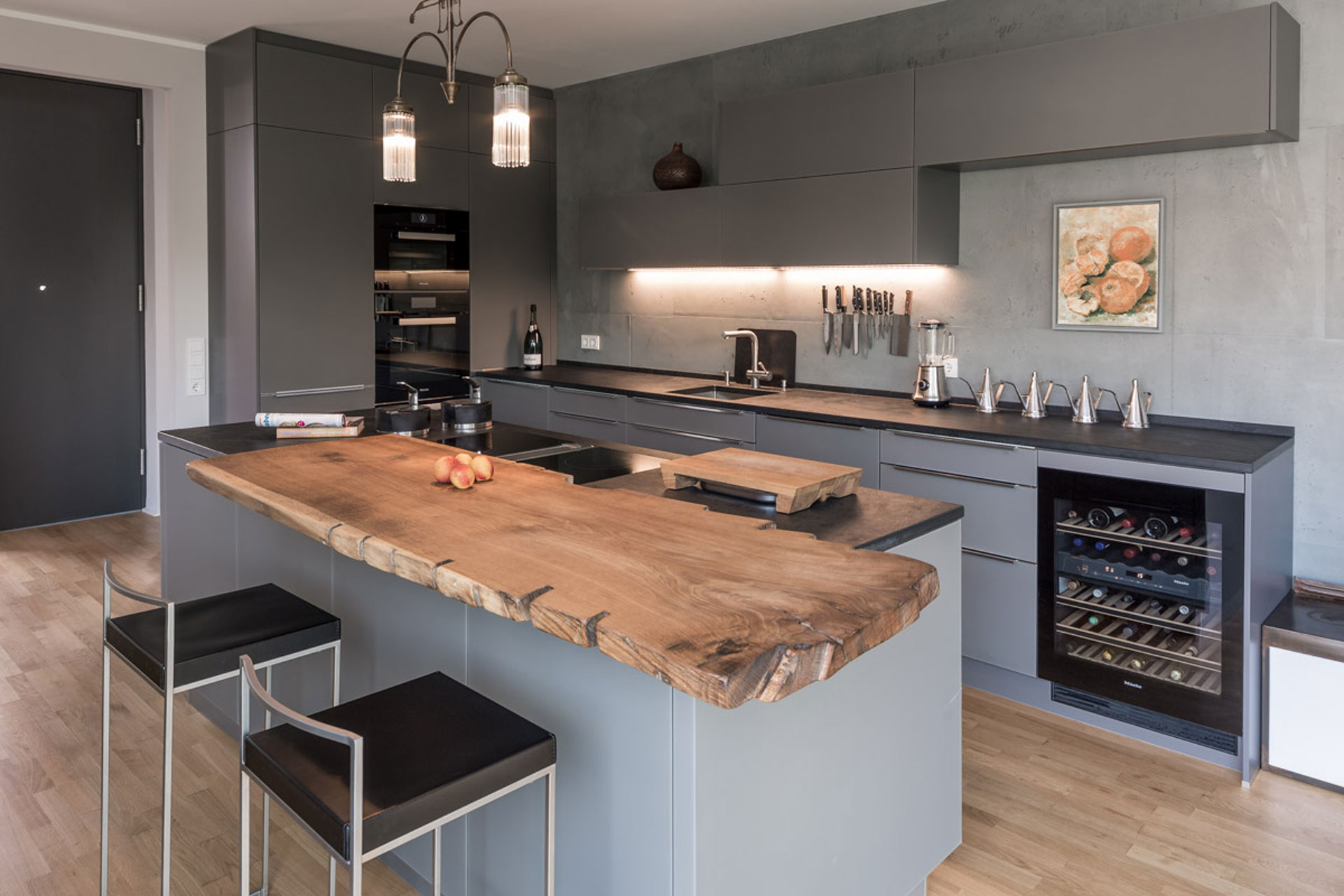 Naturgewalten: Holz und Stein – MILANO küchen.werk Dresden