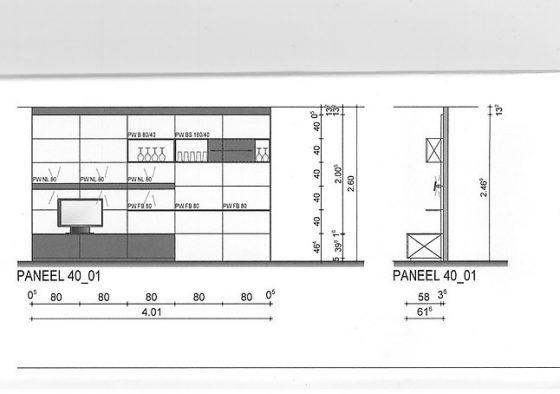 Leicht - Paneel 40 Classic FS Design Wohnwand